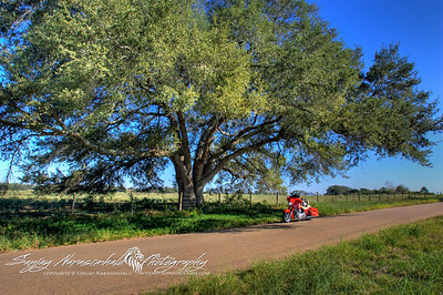 Kulow Rd, Sealy, Texas - Not a car on it. 2011