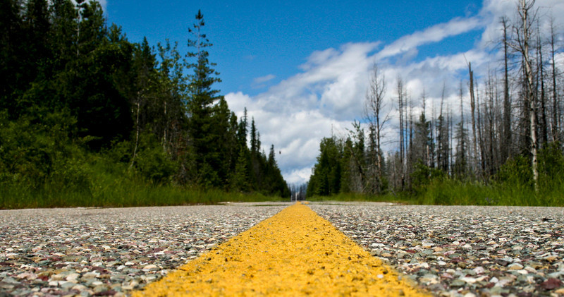 """""""The Long and Winding Road..."""" (To Polebridge MT)"""