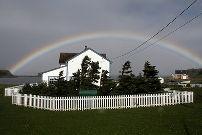 After the rain -  a spectacular rainbow