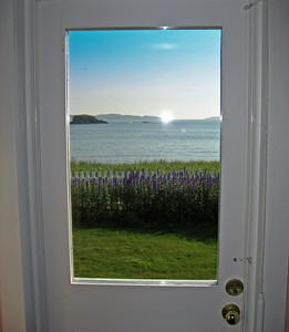 View out of front door at Tickle Inn