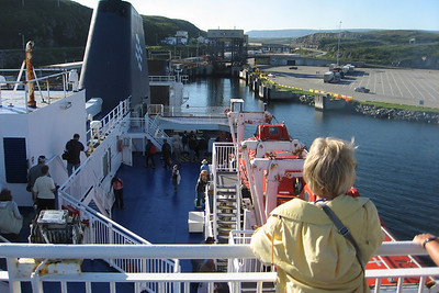 Ferry approaching harbour at Port Aux Basques
