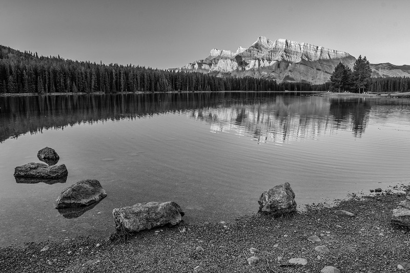Mount Rundle at Two Jack Lake