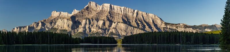 Mount Rundle at Two Jack Lake