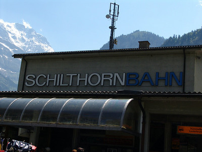 The Shilthorn in Switzerland and Surrounding Area