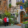 It's a little chilly on this October morning at the Burg Hotel in Rothenburg, Germany.