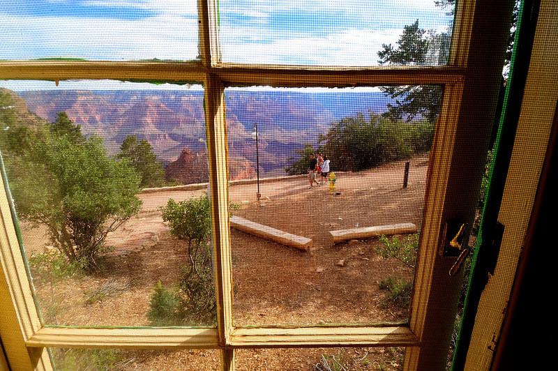The View from the Window of Our Cabin on the Rim of the Grand Canyon