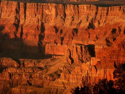 Sun on the Canyon Face