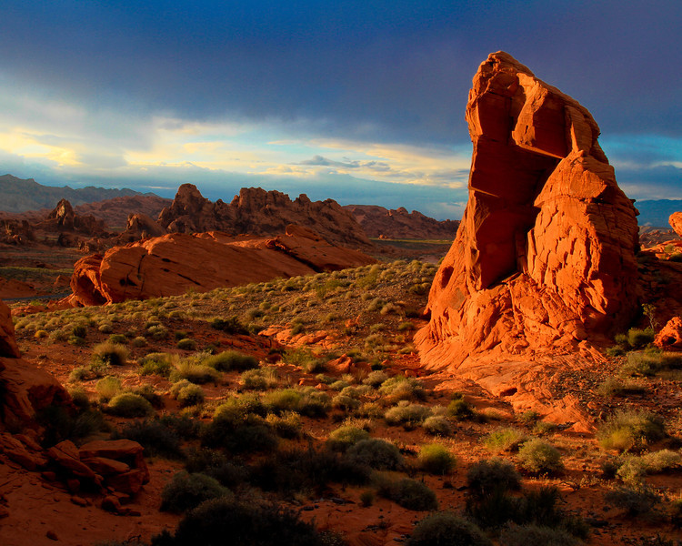 Sunset on Red Rock