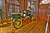 This Stanley Steamer is on display in the lobby.
