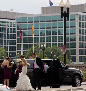 wedding party outside of Union Station