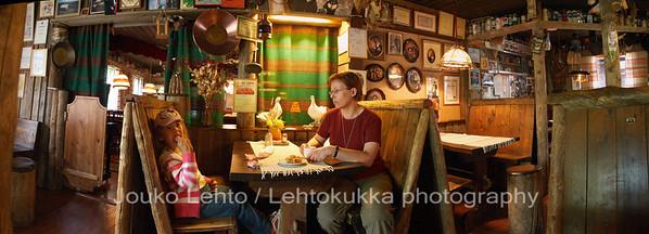 "Tankavaara - Gold museum: ""Wanha Vaskoolimies"" -restaurant"