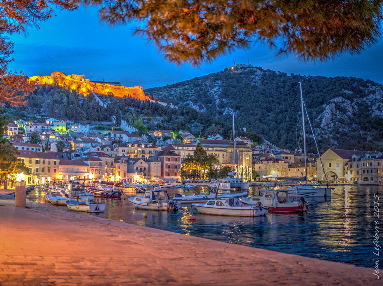 Hvar Harbour at Sunset, Croatia