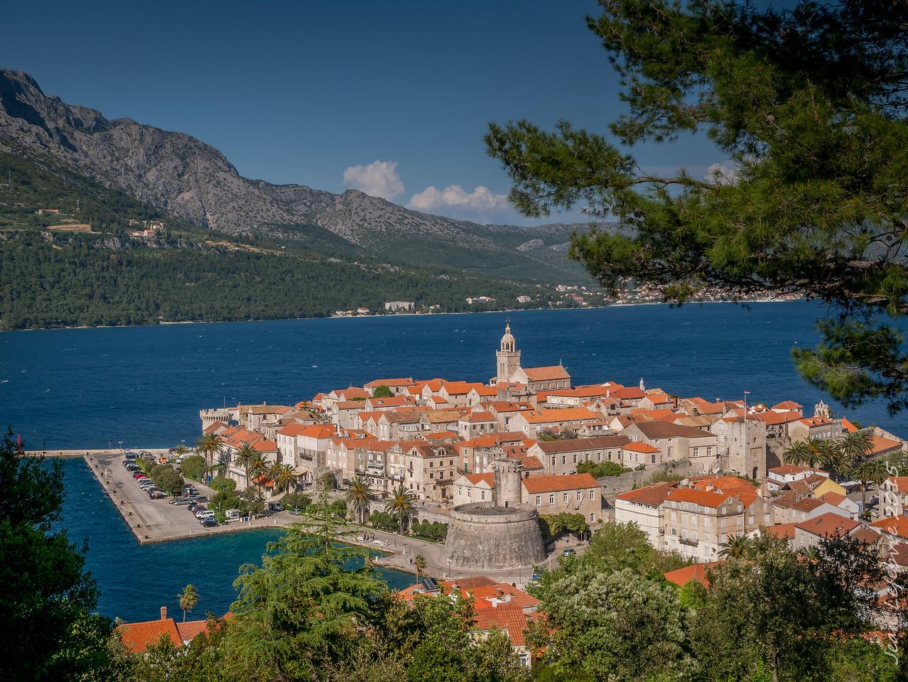 Mountain View Korcula Croatia