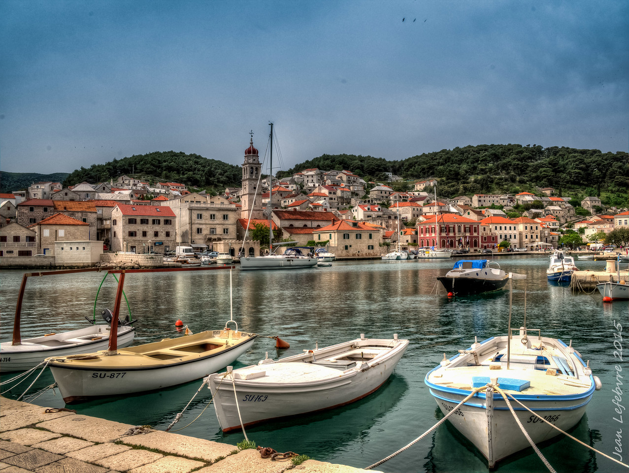 Pucisca Harbour, Croatia
