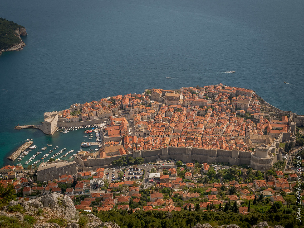 Dubrovnik Old Town from Mount Srd