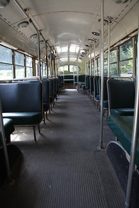 Ghost town attraction, Three Valley Gap, B.C.  I remember riding buses like this for real in Calgary when I was a kid.