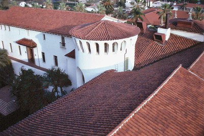 Court house roof top Santa Barbara USA - Oct 1981