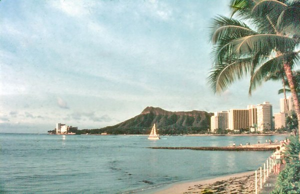 Waikiki beach Honolulu, Oahu Hawaii USA - Nov 1981