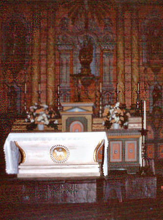 Altar Santa Ynez Mission Solvang USA - Oct 1981