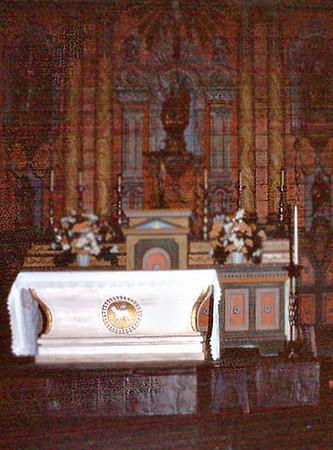 Altar Santa Ynez Mission Solvang USA - Oct 1981