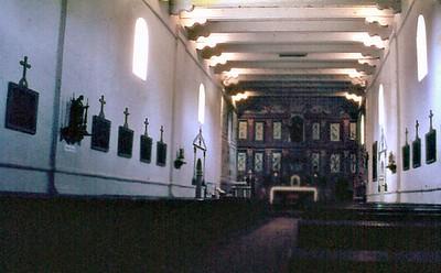 Mission interior Santa Ynez Solvang USA - Oct 1981