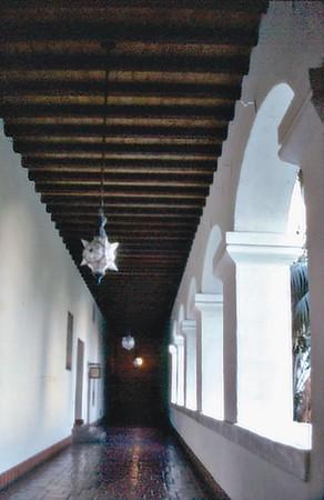 Corridor, court house Santa Barbara USA - Oct 1981