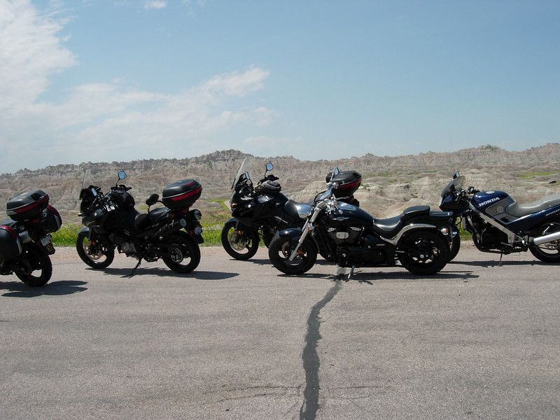 This wasn't a VStrom only rally, and some of my riding partners had different bikes....a Suzuki Cruiser and a Honda  crotch rocket...both ridden by youngsters....their dad was VStrom mounted, and probably survived the ride better than they did...a very nice family.