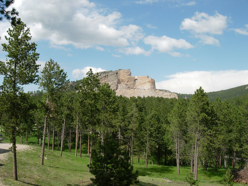 The Crazy Horse Memorial. An incredible project that is in it's earlier stages. Could have gotten closer for a better pic, but you have to wait for a bus, and it would have put us out late. I try to minimize riding close to and after dark....thats when the critters like to come out.