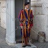 Swiss guard in the Vatican City.