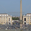 View of Saint Peter's Square and the Obelisk in the Vatican City.