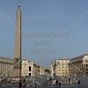 The obelisk at St Peter's Square in the Vatican City.