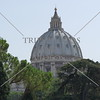 A view of the dome of Saint Peter's Basilica in the Vatican City.