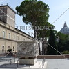 A view of the dome and sculpture at the Vatican.