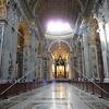 A view inside the Saint Peter's Basilica in the Vatican City.