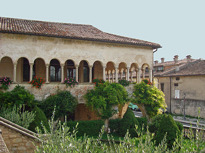Day 2: September 19 - Cistercian Abbey in Follina and its 11th century cloister; lunch at a local Prosecco vinyard; Bassano del Grappa and the bridge designed by Andrea Palladio.