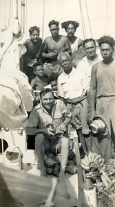 Arriving at Ma'uke Island, Cook Islands.