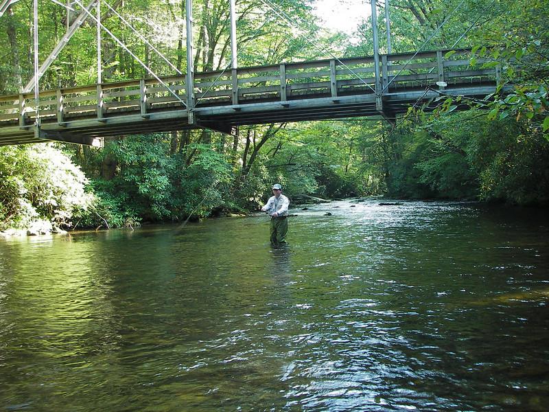 Ron on Big Creek, outside the Cataloochee Preserve area