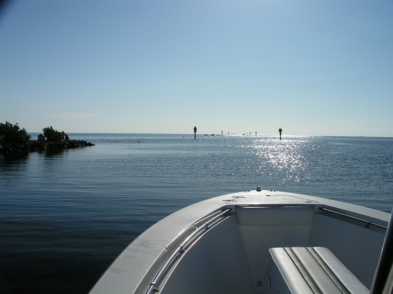 Heading out the channel of Homestead Bayfront Park, in South Biscayne Bay - Biscayne National Park, south Florida