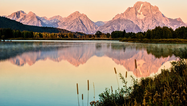 A Pastel Coloured Gran Teton Sunrise