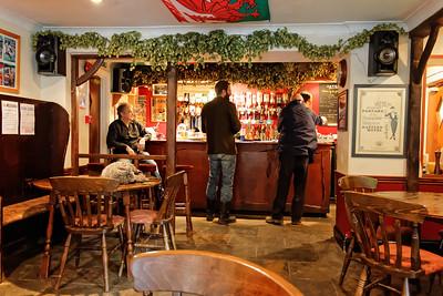Interior: the Bar at 'the Bell', Redbrook.