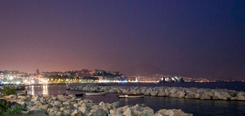 Bay of Naples, Mt Vesuvius in the far background