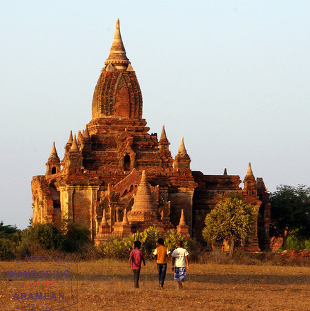 Thousands and thousands of temples on the plains of Bagan, Burma