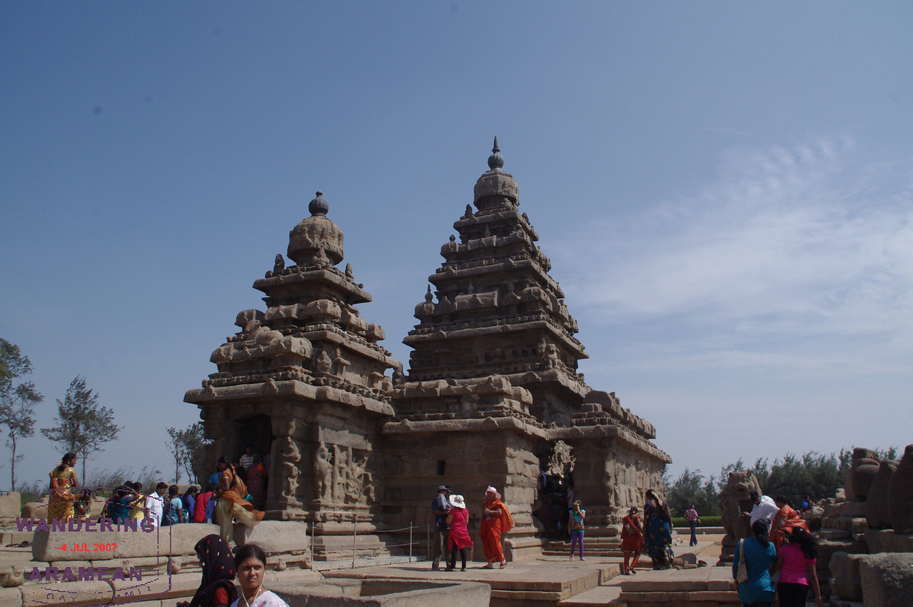 The Shore Temple is constructed, not carved, but still pretty cool