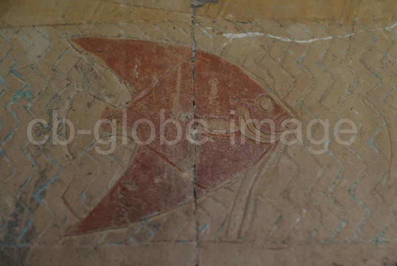 Representation of a fish, Temple of Hatshepsut, Deir el-Bahari,Thebes, Egypt