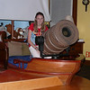 Firing the cannon in the pirate bed in the kid's room