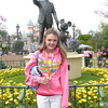 In front of the Walt Disney statue