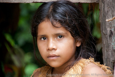 Yagua girl, Iquitos, Peru Amazon