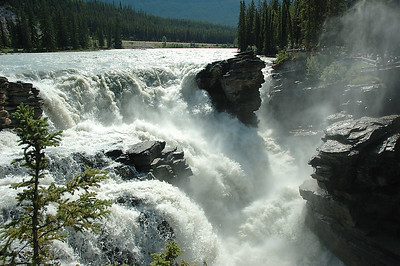 This and the next series of pictures are all taken at the falls on the Athabasca River. You get some perspective if you find and look at the people in the pictures (if there are any).