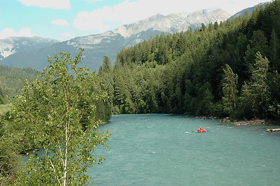 More rafters, on the Fraser River in Jasper.