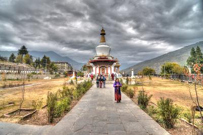 Memorial Chorten, Chhoten Lam, Thimphu, Bhutan.